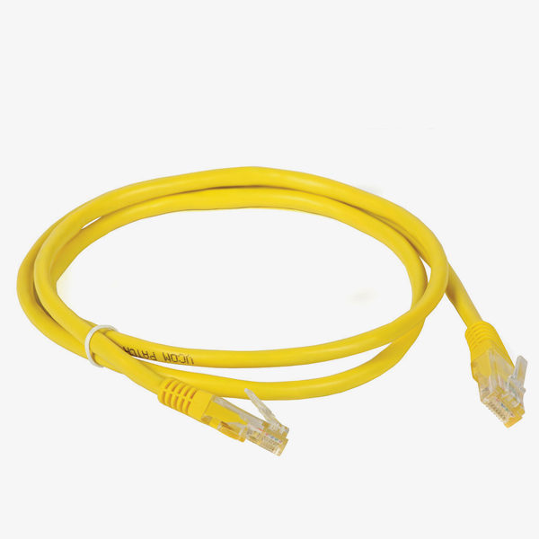patch cord amarelo