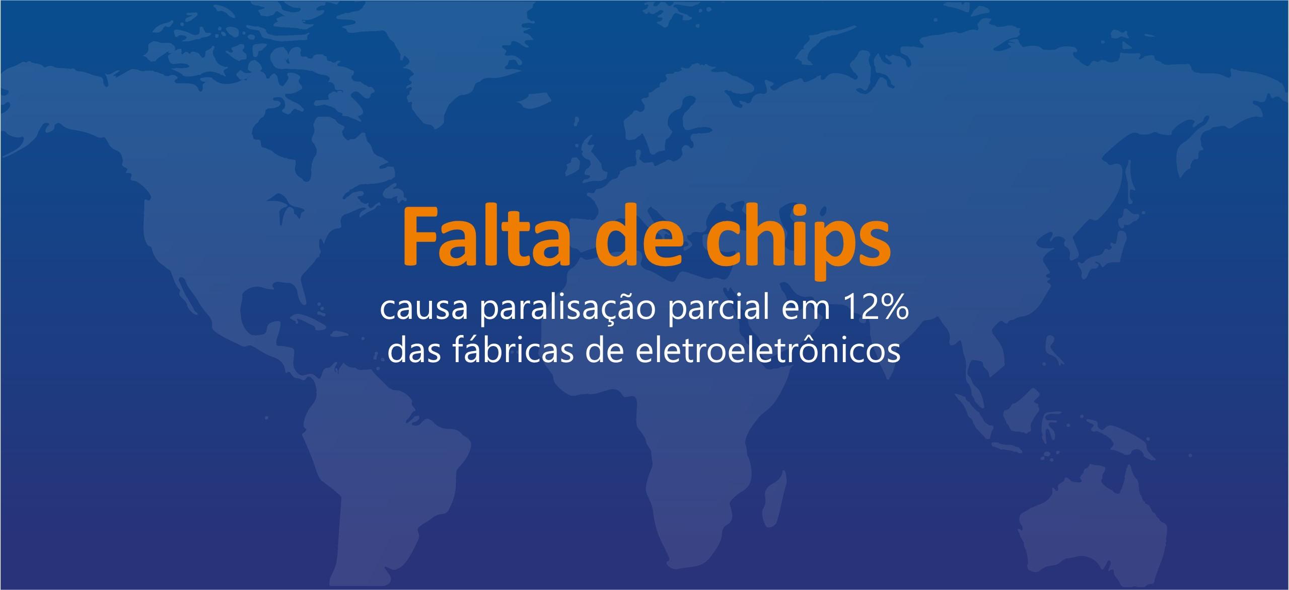 Falta de chips causa paralisação parcial em 12% das fábricas de eletroeletrônicos